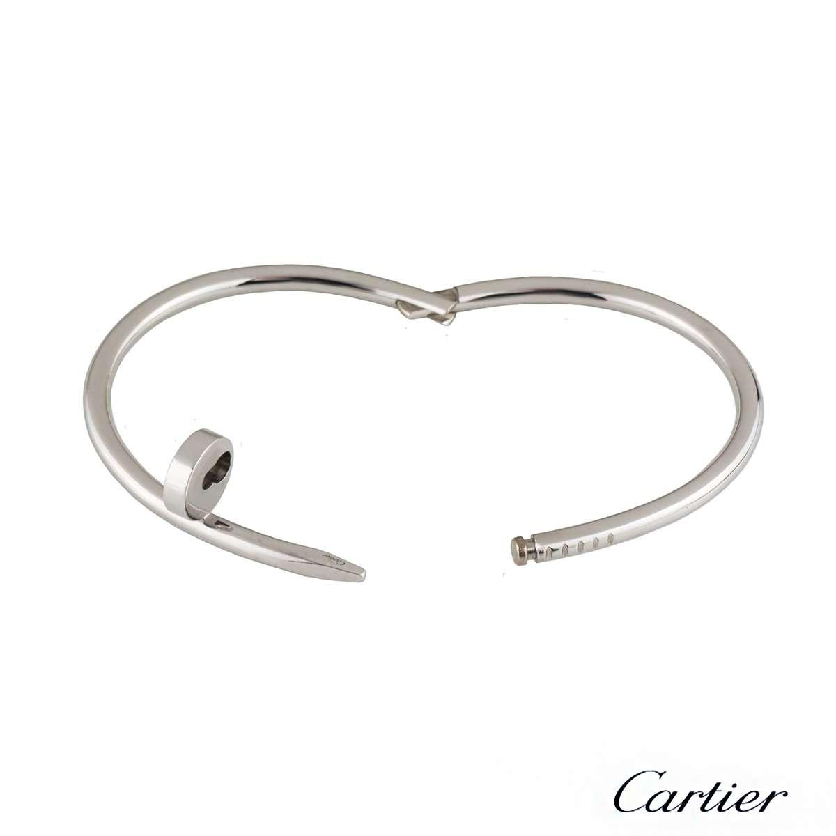 Cartier White Gold Juste Un Clou Bracelet Size 17 B6048317